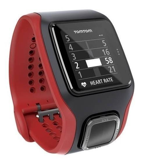Tomtom - Multi-sport Cardio Gps De Pulsera - Negro / Rojo