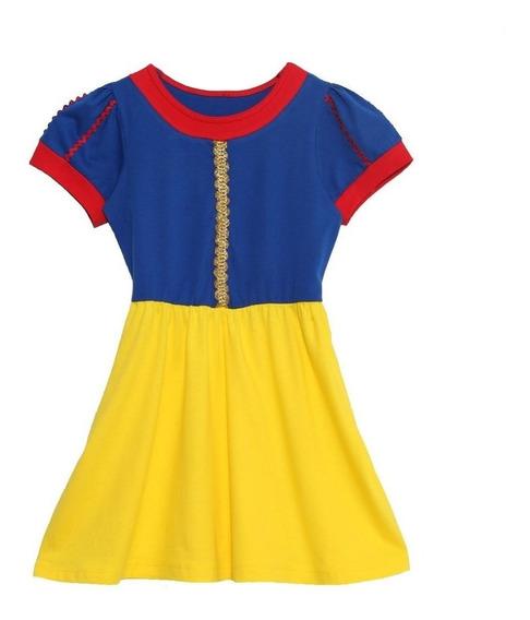 Pijama Camisola Curta Fantasia Infantil Branca De Neve