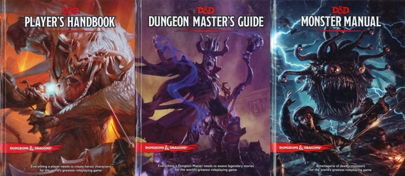 Dungeons & Dragons 5e Core Rule Books Kit Completo + Brinde