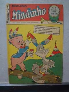 Hq Mindinho Nº 46 1952 Revista Infantil Gaguinho Pernalonga