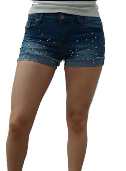Short Mezclilla Jeans Dama Authurna Denim An-d5003