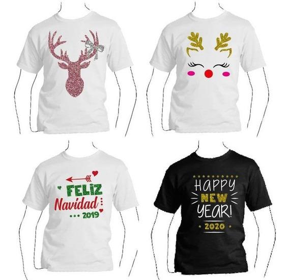 Playera Niña O Niño Para Navidad Y Año Nuevo 2020