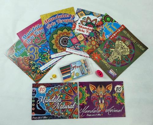 Kit 8 Libros Mandalas Para Colorear. Magicolor. Tajalapiz