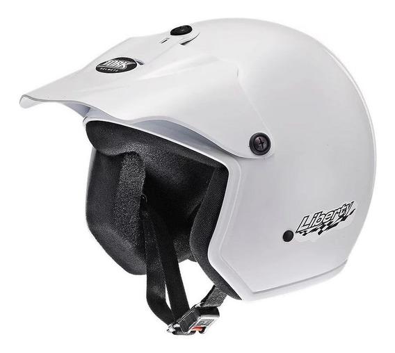 Capacete para moto aberto Pro Tork Liberty branco tamanho 56
