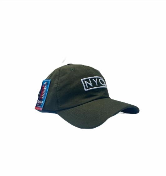 Boné Fitão Aba Curva Strapback Nyc Ny New York Camurça Verde