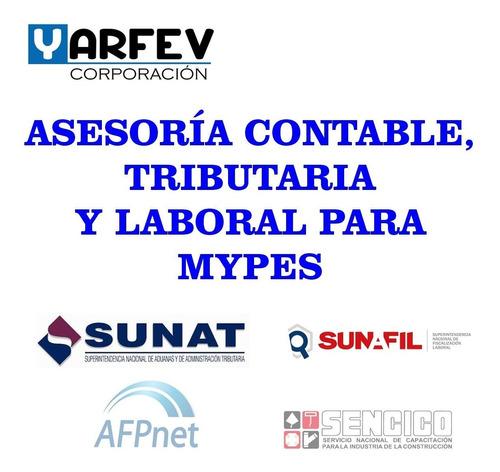 Imagen 1 de 2 de Asesoria Contable Tributaria Mypes - Servicios Contador