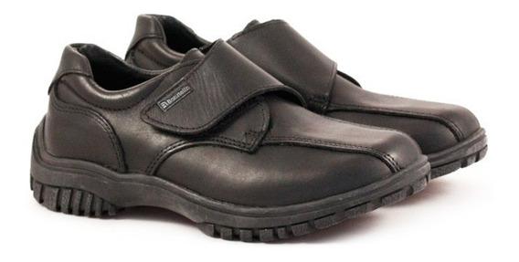 Zapatos Colegiales Abotinados Cuero Del 34 Al 40