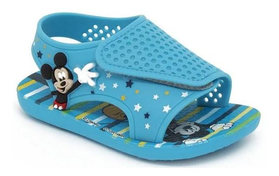 Sandalias Minnie Mickey Disney Original Plumitaa Sandmk