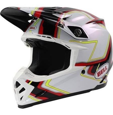 Capacete Bell - Moto 9 Pace Branco - 58