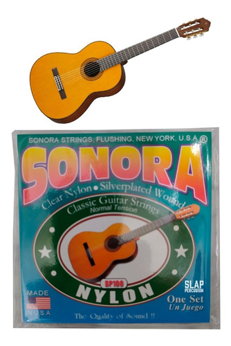 Encordado Guitarra Clásica Sonora Cuerdas Guitarra Acústica