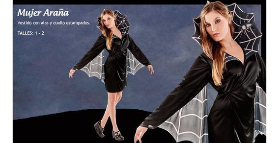 Disfraz Bruja Araña Alas Y Cuell Adulta Talle 2 Chirimbolos