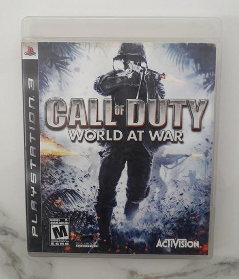 Jogo Call Of Duty Ps3 - World At War - Mídia Física