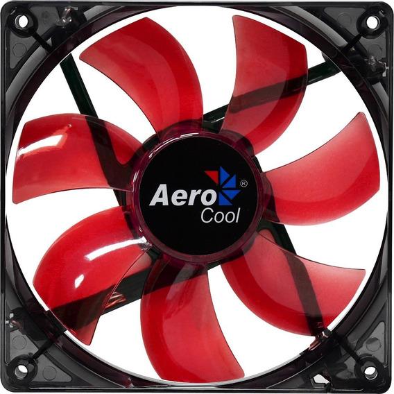 Kit 4 Cooler Gamer 120mm 12cm Aerocool En51363 Led Vermelho