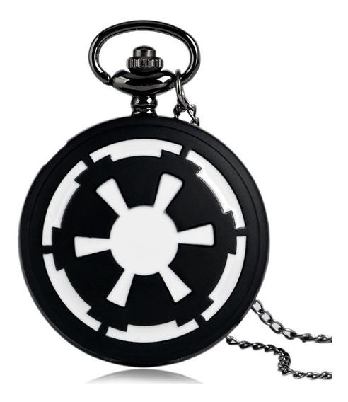Reloj Dije D Colección Star Wars Logo Imperio Tipo Bolsillo