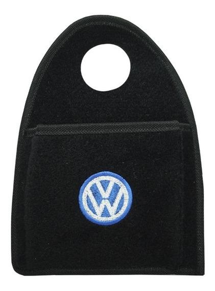 Lixeira Lixinho P/ Cambio Automotiva Carro Logo Vw Bordado