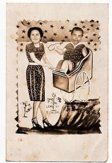 Antiga Foto Postal Humor - Lembrança Poços De Caldas Anos 40