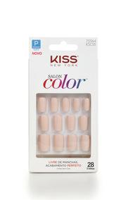Unhas Postiças Salon Color Curto Sweet Girl Kiss Ny