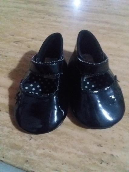 Zapatos De Vestir Niña Bebe Negros Talla 3-6 Meses
