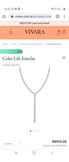 Colar Life Vivara Estrelas