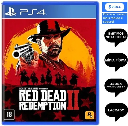 Red Dead Redemption 2 - Ps4 Mídia Física/nota Fiscal