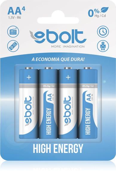 Pilha Aa Ultra Power 1,5v R6 Ps009c4 Ebolt C/ 4 Unidades