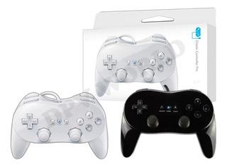 Control Para Nintendo Pro Wii Alambrico Negro / Blanco