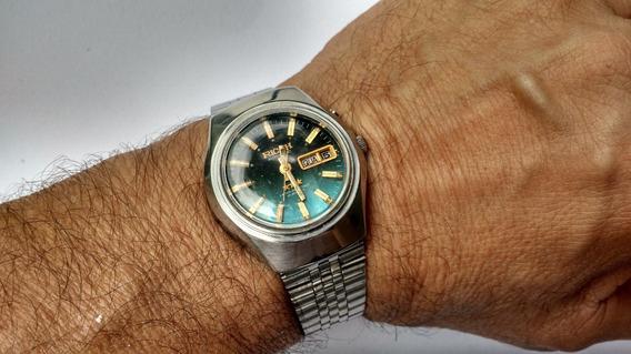 Relógio Ricooh Automático Ótima Conservação Azul Raríssimo