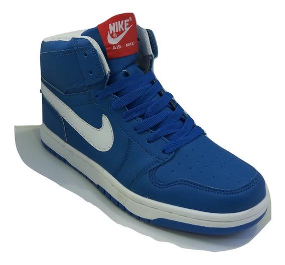 Zpt Botas Nike Air Max. Tallas 40-45. Azul Eléctrico/blanco.