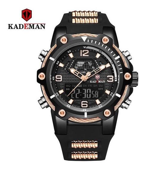 Relógio Caixa Grande Kademan Original K9055g