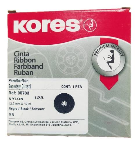 Imagen 1 de 3 de Cinta Kores Olivetti Nylon Negra 12,7 Mm X 10 Mt.