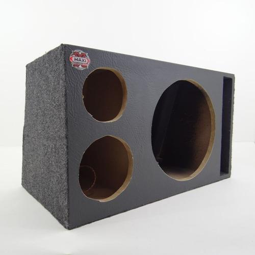 Imagem 1 de 7 de Caixa De Som Trio Para Pancadão / Seco Com Duto Fiação Plug