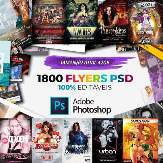 1800 Flyers/panfletos Editáveis (photoshop Psd)
