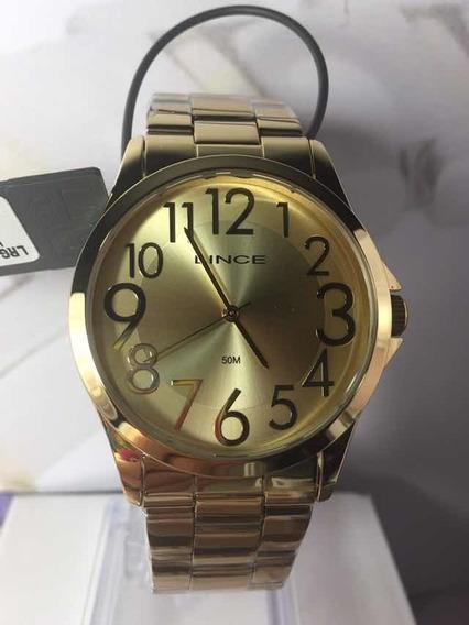Relógio Lince Feminino Lrgj081l Dourado Analogico Promoção