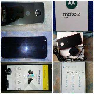 Moto Z Play Con Caja Y Accesorios