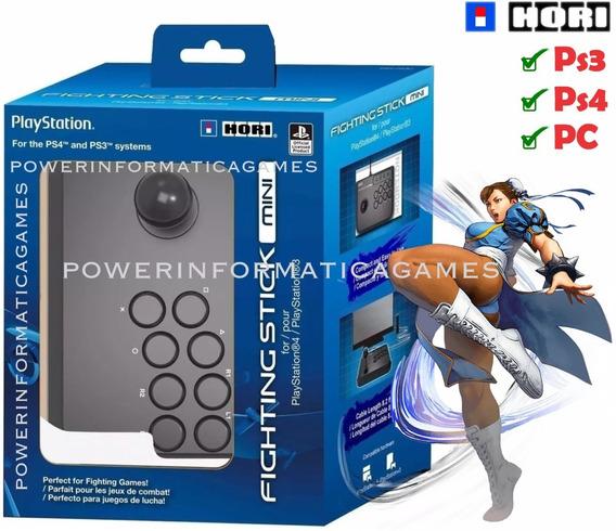 Controle Arcade Ps4 Ps3 Hori Fighting Stick Mini 4 Novo