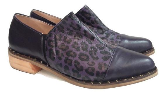 Zapatos Mujer Suecos Oxford Cuero Vacuno Otoño 2019