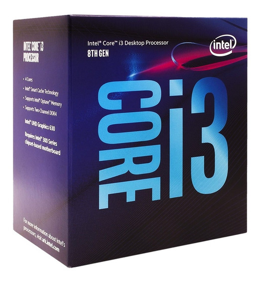 Procesador Intel Core I3-8100 3.6ghz 4 Nucleos 8va Gen 1151