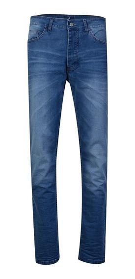 Jean Pantalon Hombre Algodón Corte Slim Fit Moda Brooksfield