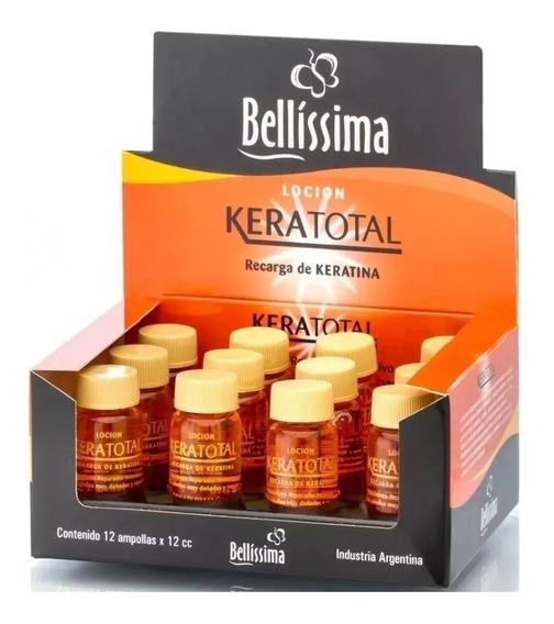Ampollas Capilares Bellissima Keratotal Keratina X 12 Unid