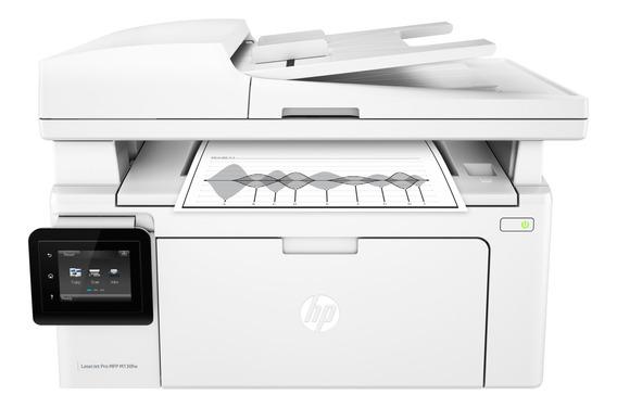 Impressora multifuncional HP LaserJet Pro M130FW com Wi-Fi 110V branca