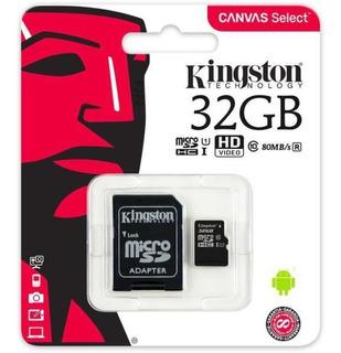 Micro Cartão De Memória Com Adaptador 32 Gb Kingston