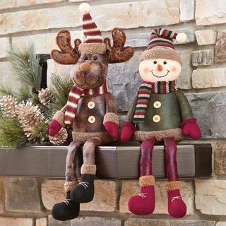 Navidad 2 Piezas/set Decoracion Muñeco De Nieve Y Reno