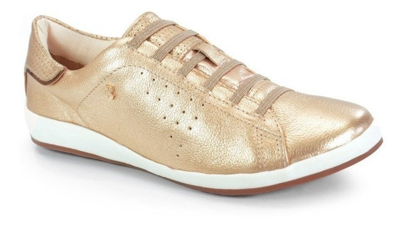 Sapatênis Bottero Couro Dourado Bronze - 256503