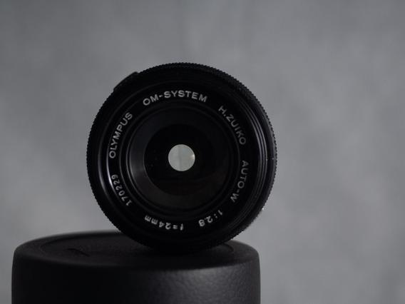 Lente Olympus Zuiko Om 24mm 2.8 Impecável Sem Detalhes