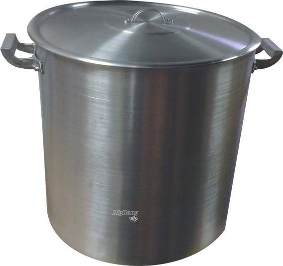 Olla Aluminio Gastronomica N°40 Tapa 50 Litros Reforzada