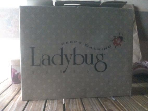 Botineta De Cuero Y Gobelina! Lady Bug A Estrenar