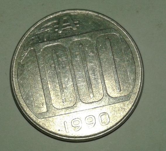Moneda Argentina Antigua 1000 Australes Año 1990