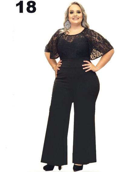 Macacao Femininos Pantalona Renda Modelos Plus Size Gordinha Festas Noite Lindo