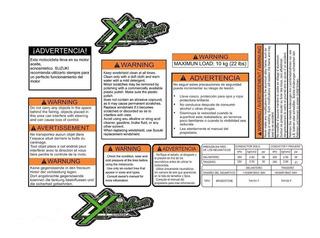 Calcomanias Advertencia Suzuki Vstrom