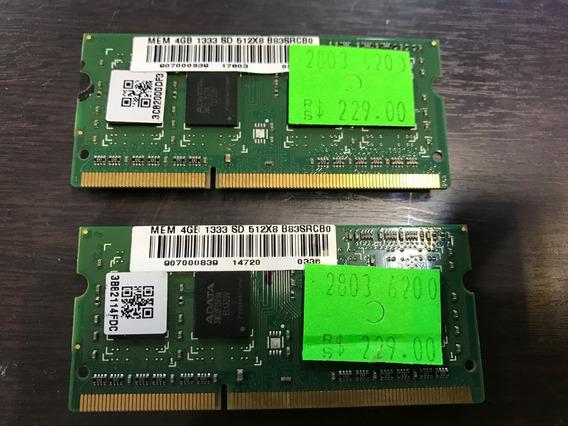 Kit 2x4gb Memoria So-dimm Pc3-10600s 1333mhz Para Mac